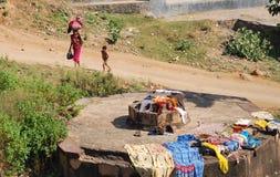 india tvätteri Royaltyfri Fotografi