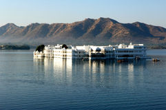 India, udaipur: Lake palace. View of the famous palace today converted in heritage hotel ; the palace is situated in the heart of the lake pichola; a Royalty Free Stock Images