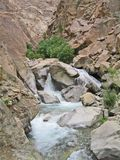 India, valley Ind, river Ind inflow by small falls Stock Images