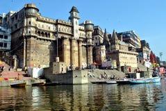 India.Varanasi.Ganges. Stock Photos