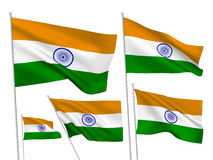 India vector flags Stock Photography