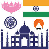 India. Vector illustration (EPS 10 Stock Photography