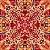 India vector paisley pattern, decorative ornament for textile, wrapping or bandana decor. Bohemian style kerchief design. India paisley pattern, decorative Stock Photo