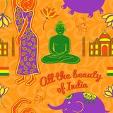 India vector seamless pattern Stock Photography