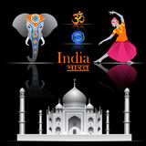 India vector set Stock Photos