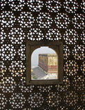 India - view from the harem. View from inside the Harem. Amber fort. Jaipur. Northern India royalty free stock images