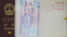 India VISA and China Passport Royalty Free Stock Images