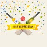 India Vs Pakistan Cricket match concept. Stock Photos