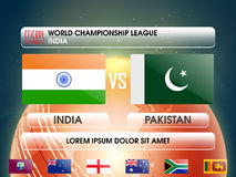 India VS Pakistan Cricket Match concept. Stock Images
