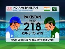 India VS Pakistan Cricket Match concept. Stock Photo