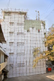 India wooden scaffold painters construction Stock Image