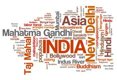 India word cloud Royalty Free Stock Images