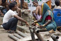 India at work royalty free stock photos