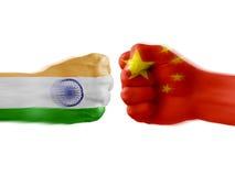 India x China Royalty Free Stock Images