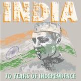 India_70years_of_independence_texture royaltyfri illustrationer