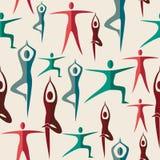 India yoga seamless pattern Stock Images