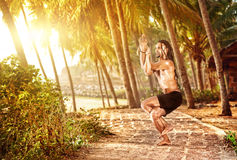 india yogi arkivfoton