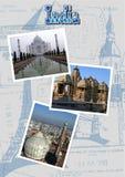 India z Taj Mahal, Jama Masjid i Khajuraho świątynią, Obrazy Stock