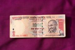 India zakazywał starą 500 i 1000 rupii notatkę Obraz Royalty Free