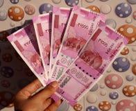 India zakazywał starą 500 i 1000 rupii notatkę Zdjęcia Stock
