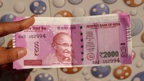 India zakazywał starą 500 i 1000 rupii notatkę Zdjęcia Royalty Free