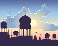 India zmierzch Zdjęcie Royalty Free