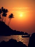 India Zonsondergang Stock Afbeeldingen