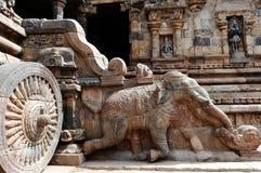 India zuiden-India: De tempel van Darasuram Stock Foto