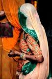 India, zuiden-India: Madurai, de Tempel van Sri Meenakshi stock foto