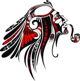 Indian. Vector illustration of a north american tribal culture Royalty Free Stock Photo