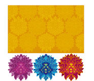 Indian. Colour  pattern with indian ornament Royalty Free Stock Image