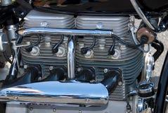 Indian 4 cylinder motorcycle engine Stock Photo