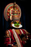 Indian actor performing traditional dance Kathakali. India, Kerala Royalty Free Stock Photo