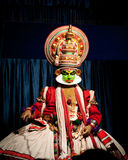 Indian actor performing traditional dance Kathakali. India, Kerala Royalty Free Stock Images