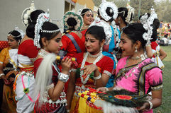 Indian Adolescents Dancer Stock Images