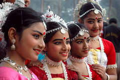 Indian Adolescents Dancer Royalty Free Stock Image