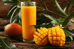 Indian Alphonso mango juice Royalty Free Stock Photos
