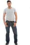 Indian American man. Standing with hands on his pocket Stock Photography
