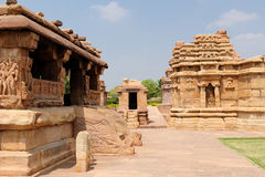 Indian ancient architeckture in Aihole Royalty Free Stock Image
