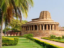 Indian ancient architeckture in Aihole Royalty Free Stock Photos