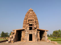 Indian ancient architeckture in the archaeological place in Pattadakal Stock Images