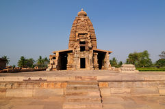 Indian ancient architeckture in the archaeological place in Pattadakal Stock Photography