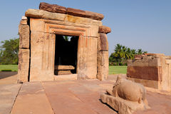 Indian ancient architeckture in Pattadakal Stock Images