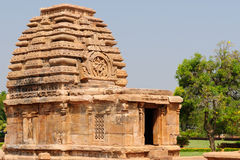 Indian ancient architeckture in Pattadakal Royalty Free Stock Photo