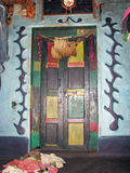 Indian ancient tribal door Stock Image