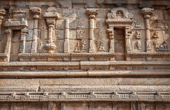 Indian ancient wall in Hampi Royalty Free Stock Photography