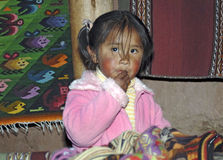 Indian Andean Girl Royalty Free Stock Images