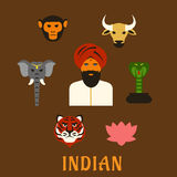 Indian animals and national symbols Stock Images