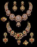 Pearl neclace set Royalty Free Stock Images