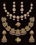 Pearl neclace set Stock Images